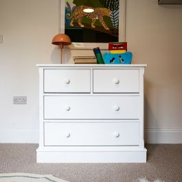 Charterhouse 2+2 Children's Chest Of Drawers - Silk White