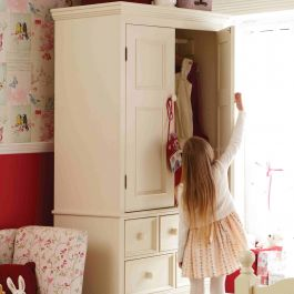 Belvoir Children's Wardrobe - Antique White