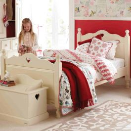 Belvoir Children's Single Bed With Heart - Antique White