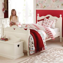 Belvoir Children's Single Bed With Heart - Silk White