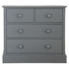 Charterhouse 2+2 Children's Chest Of Drawers - Dark Grey