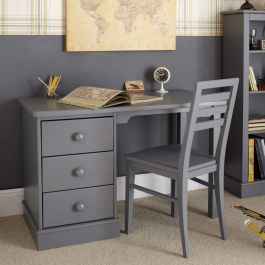 Children's Pedestal Desk - Dark Grey