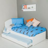 The Colourful Children's Single Bed - White