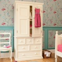 Belvoir Childs Wooden Armoire, Childs White Armoire, Childrens Wooden Armoire, Childrens White Armoire, Kids Wooden Armoire, Kids White Armoire