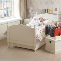Belvoir Childs Wooden Single Bed, Children's Wooden Single Bed, Kids White Single Bed