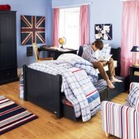 charterhouse sleepover bed - prussian blue