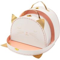Cat Suitcase Storage Set