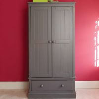 Charterhouse Childs Wooden Armoire, Childs Grey Armoire, Childrens Wooden Armoire, Childrens Grey Armoire, Kids Wooden Armoire, Kids Grey Armoire