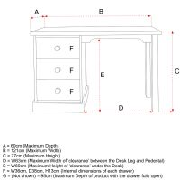 Kids Wooden Desk Size Specifications, Childs Wooden Desk Size Specifications, Childrens Wooden Desk Size Specifications
