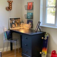 Children's Pedestal Desk - Prussian Blue