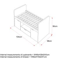 Southside Cabin Bed Size Specifications
