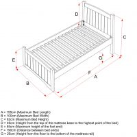 Stowford Single Bed Size Specifications