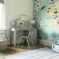 Children's Pedestal Desk - Taupe