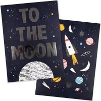 To The Moon Space Prints