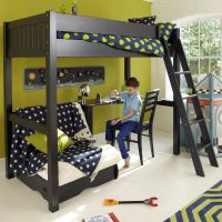 Warwick Childs High-Sleeper Bed, Childrens Bed with Futon, High-Sleeper Bed