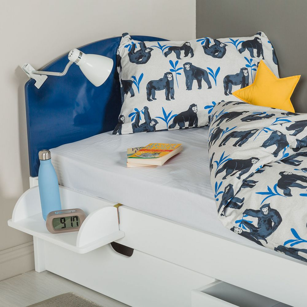 The Colourful Children's Single Bed - Blue