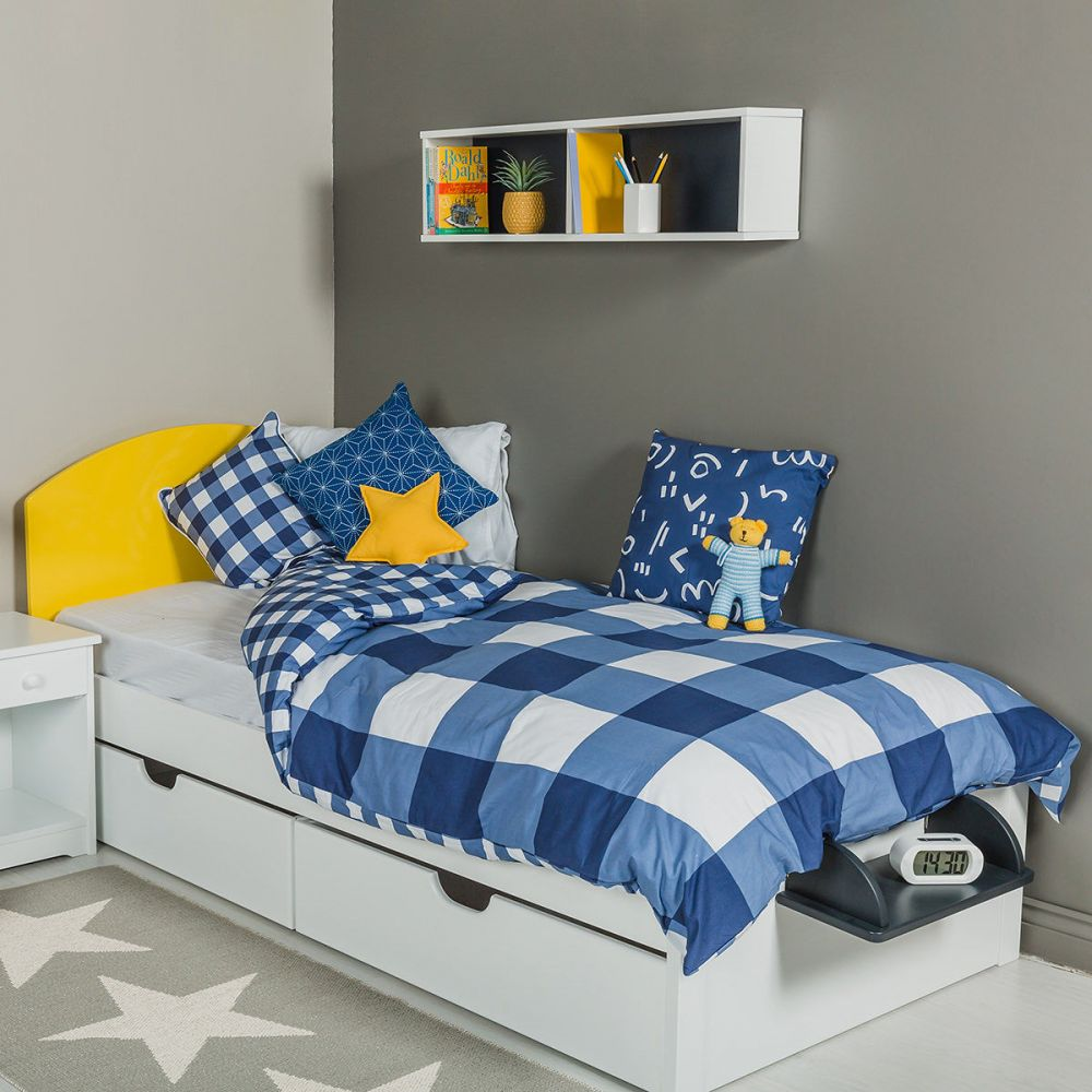 The Colourful Children's Single Bed - Yellow