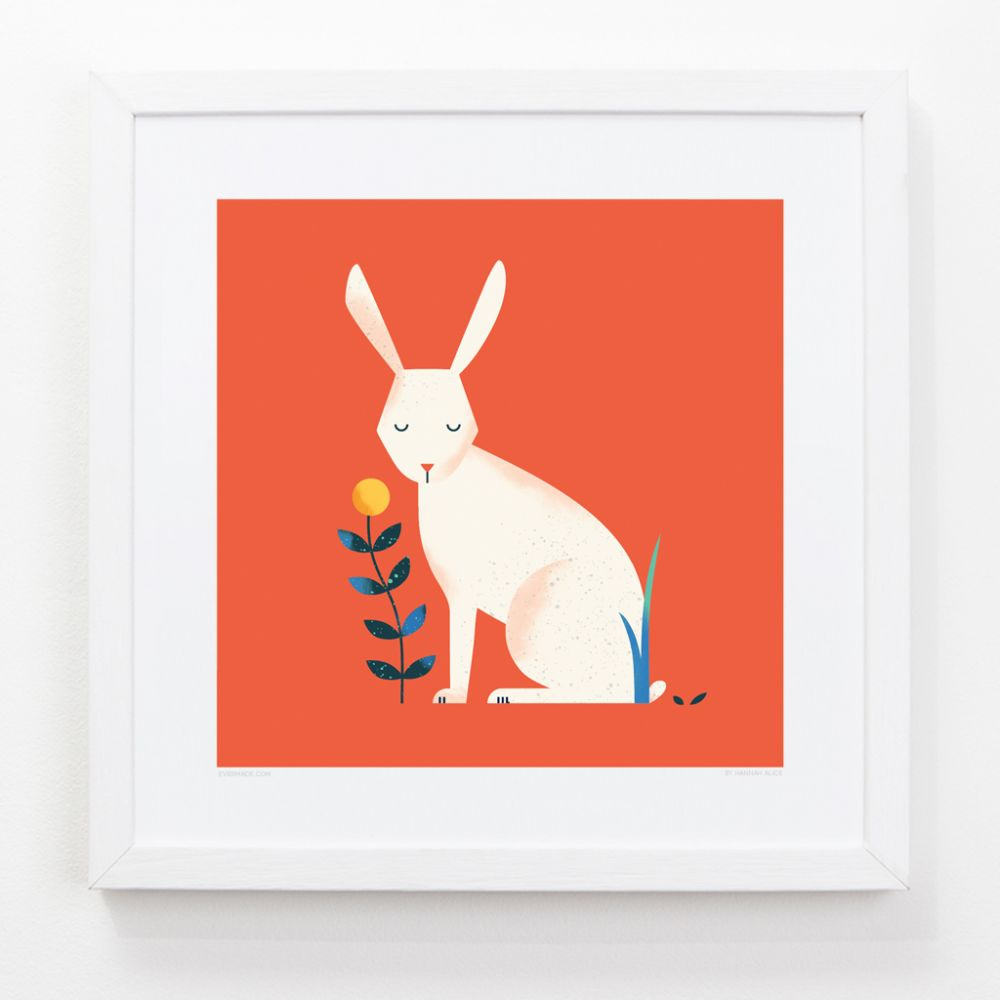 Rabbit - Children's Framed Art Print