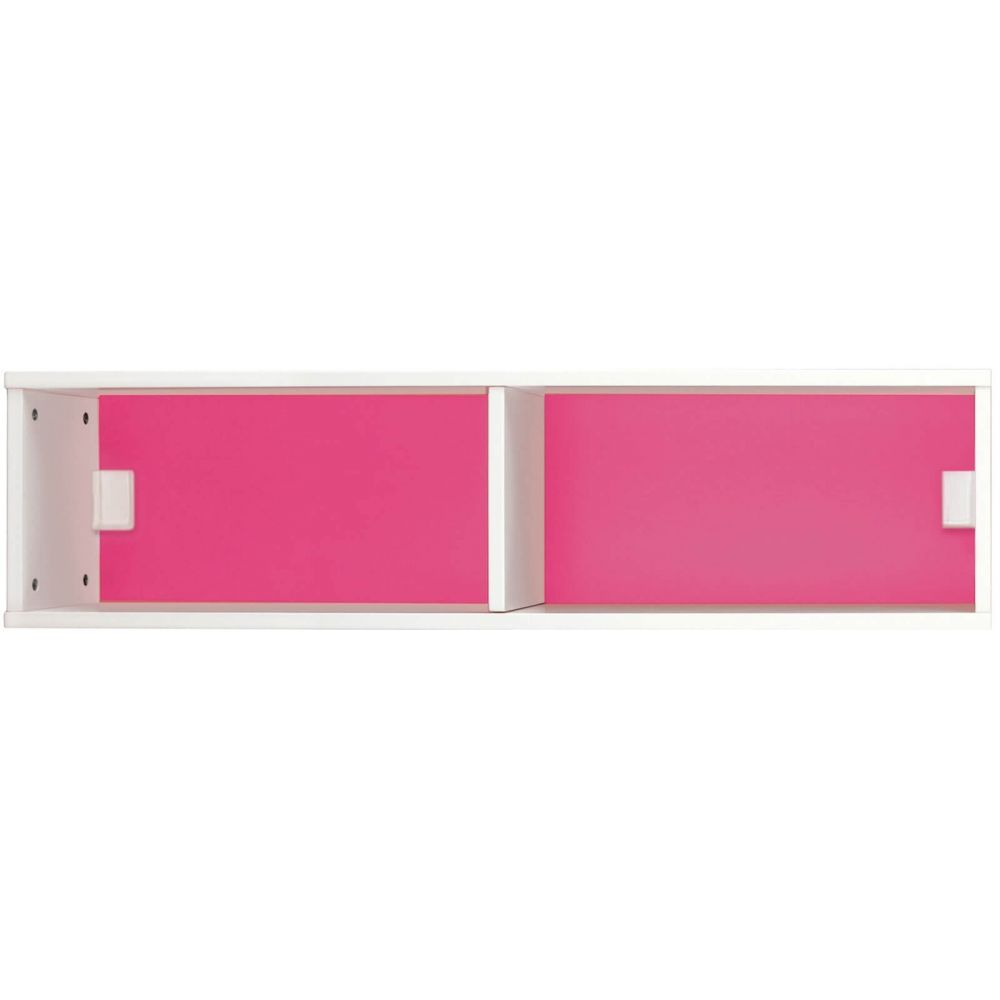 Mondrian Wooden Bookshelf, White with a Pink Back. A Great Kids Bookshelf to add to your Children's Furniture Collection.