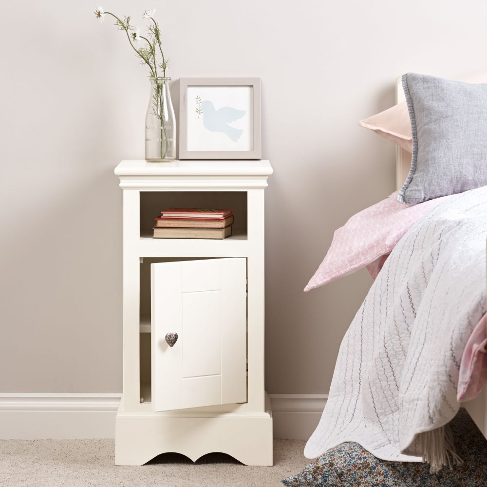 Sweetheart Children's Bedside Cabinet - Silk White