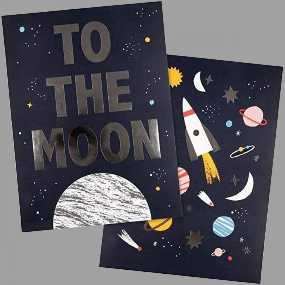To The Moon Space Prints (Set of 3)
