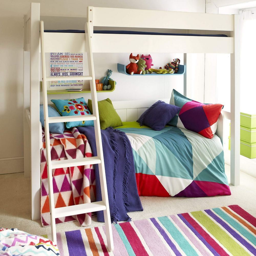 Front of Warwick Childs Wooden High Sleeper Bed, Kids High Sleeper Bed, High Sleeper Bed & Day Bed