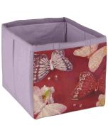 Fabric Children's Storage Tote - Pink Butterflies