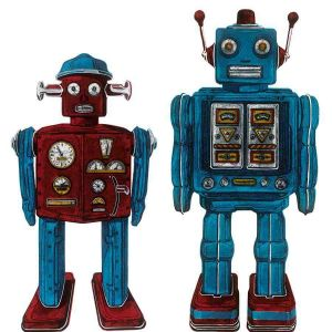 Robots Canvas Children's Print