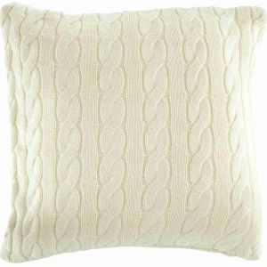Cable Children's Cushion - Cream