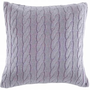 Cable Children's Cushion - Lilac