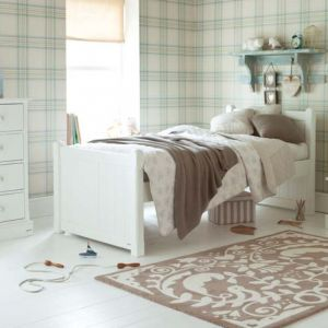 Charterhouse children's single bed - silk white
