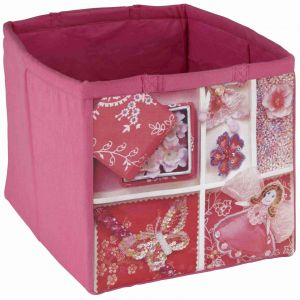 Fabric Children's Storage Tote - Pink Fairy