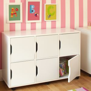 Children's Single Cupboard Door - White