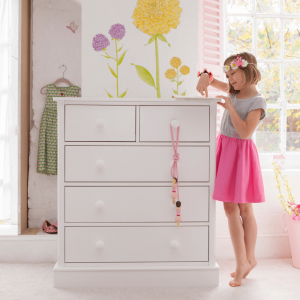 Charterhouse 3+2 Children's Chest Of Drawers - Silk White