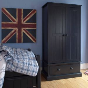 Charterhouse Childs Wooden Armoire, Childs Blue Armoire, Childrens Wooden Armoire, Childrens Blue Armoire, Kids Wooden Armoire, Kids Blue Armoire