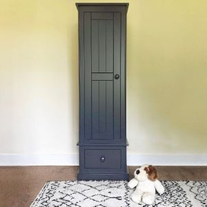 Charterhouse Single Wardrobe - Dark Grey