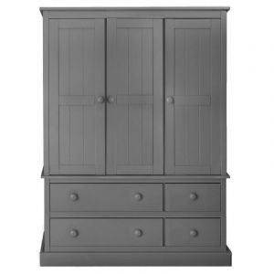Charterhouse Three Door Wardrobe - Dark Grey