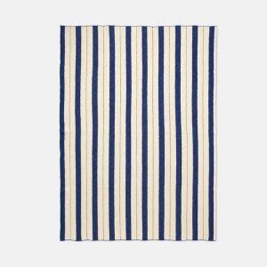 Ferm Living Cotton Pinstripe Blanket - Blue