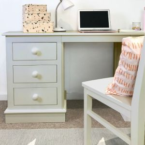 Children's Double Pedestal Desk - Antique White