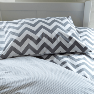 Grey Chevron Reversible Children's Duvet Set