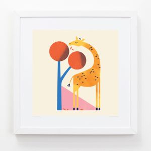 Giraffe - Children's Framed Art Print