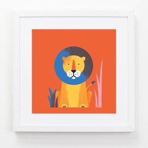 Lion - Children's Framed Art Print