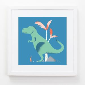 T-Rex - Children's Framed Art Print