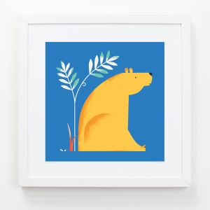 Bear - Children's Framed Art Print