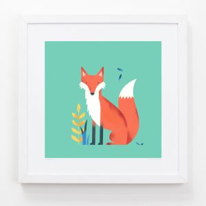 Fox - Children's Framed Art Print