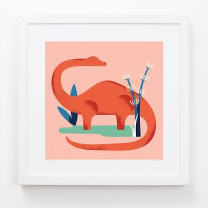Diplodocus - Children's Framed Art Print