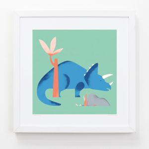 Triceratops - Children's Framed Art Print