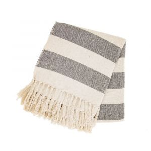 Monochrome Scandi Stripe Blanket Throw