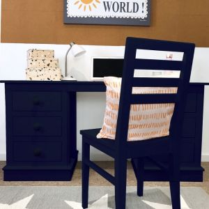 Children's Double Pedestal Desk - Prussian Blue