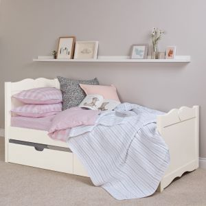 Sweetheart Children's Single Bed - Silk White
